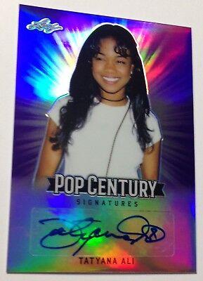 2018 Leaf Metal Pop Century Purple Auto Tatyana Ali Autograph #ba-ta1 22/25 Catalogi Worden Op Verzoek Verzonden