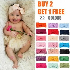 Baby-Nylon-Soft-Bow-Head-Wrap-Turban-Top-Knot-Headband-Newborn-Girl-Accessories