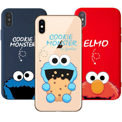 Cartoon Cookies Monsters Elmo Soft Phone Case For Iphone 5 6 7 8 X Xr Xs Max Ebay