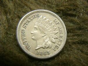 1863-U-S-COPPER-NICKEL-INDIAN-HEAD-CENT-WITH-HIGH-END-COIN-NICE-amp-NATURAL