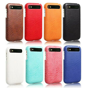 For-Blackberry-Q20-Classic-Alligator-Grain-PU-Leather-Coated-hard-case-cover