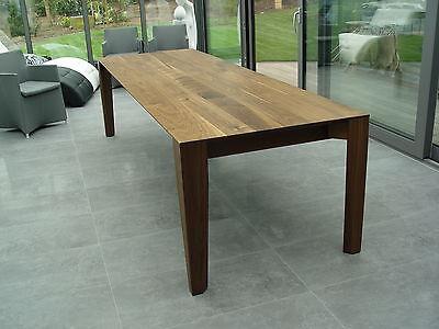 Esstisch Tisch Tafel Holztisch massiv 2m Länge 90cm breit Nussbaum auch 3m 4m   eBay