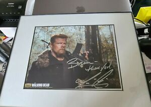 Michael Cudlitz The Walking Dead Abraham Ford Signed Autograph colored Photo