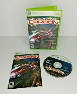 Need for Speed Carbon for Microsoft Xbox 360 CIB Complete 2006 Tested Works!