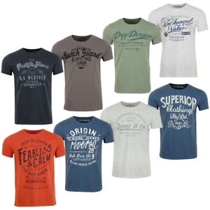 riverso Herren T-Shirts Rundhals Motiv RIVLeon 4er Pack