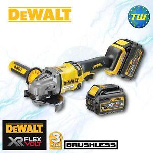 Details about DeWalt FLEXVOLT DCG414T2-GB 54V XR BRUSHLESS Angle Grinder +  2x 6Ah Batteries