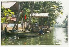 (82112) Postcard India Kerala Backwaters Boat #9 - un-posted