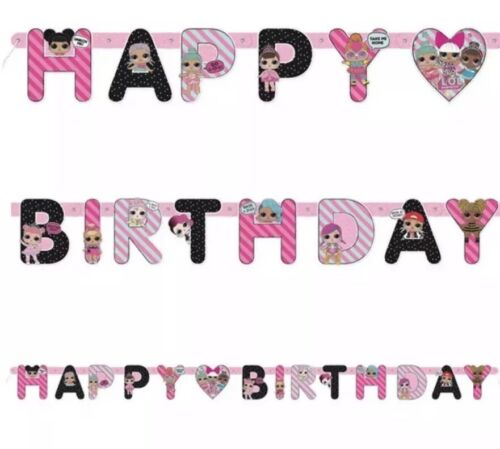 LOL Surprise Happy Birthday Banner Card Jointed Banner