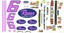 #6 Max Razo Roses 2013 Mustang 1/64th HO Scale Slot Car Waterslide Decals