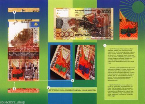 KAZAKHSTAN:5000 Tenge*2008*PROMO leaflet*booklet*folder