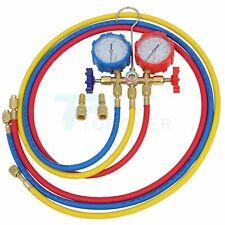 Manifold Gauge Set 3 Way Sturdy Brass Body Hvac Diagnostic Freon Charging R 134