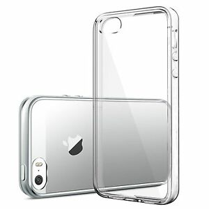 For-iPhone-SE-Case-Crystal-Clear-Rubber-Shockproof-Protective-iPhone-5-5s-Cover