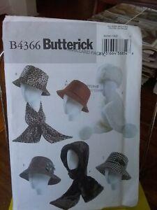 Oop-Butterick-4366-misses-hats-fedora-headband-scarf-headwrap-sz-21-5-23-5-034-NEW