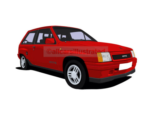 VAUXHALL NOVA GTE KEYRING CHOOSE YOUR CAR COLOUR.