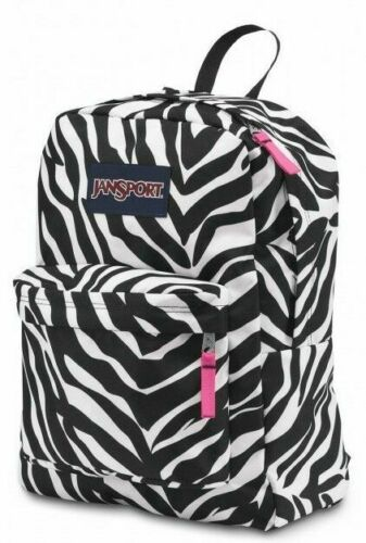 White Black Zebra Jansport Superbreak Mens /& Womens Backpacks Rucksack