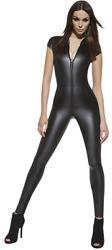 luxuriöser Catsuit Overall elegante und glamouröse Leder-Optik Gr. S M L XL XXL