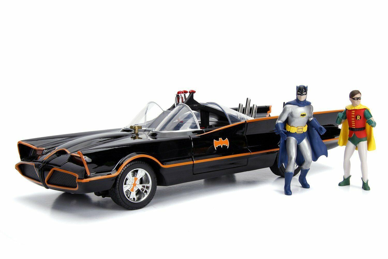 Jada 1 18 Classic 1966 TV Batimóvil con luces de trabajo & Batman Y Robin Figuras