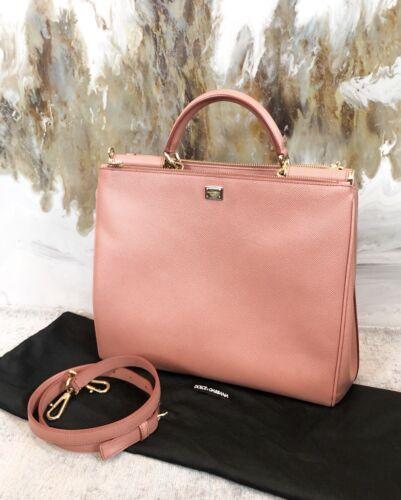 Dolce & Gabbana Salmon Pink Saffiano Leather Miss
