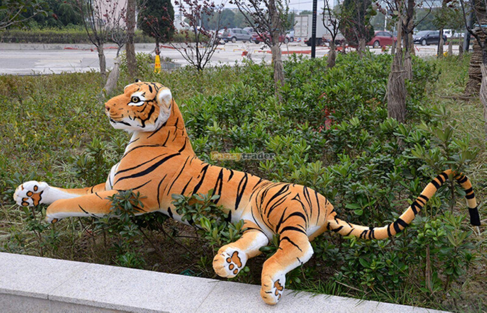 67'' Huge Giant Likelife Tiger Plush Stuffed Emulational Toys Animal doll gifts