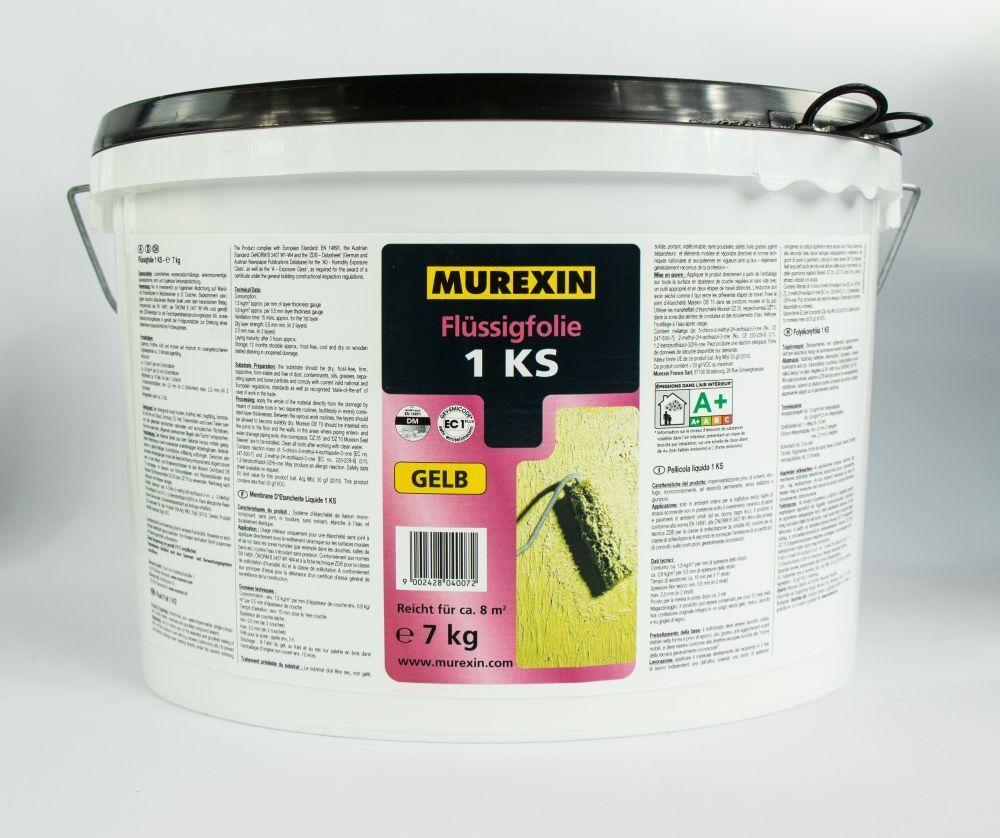 Flüssigfolie Streichfolie Dichtfolie flüssig Gelb Blau u. 7 kg 14 kg MUREXIN