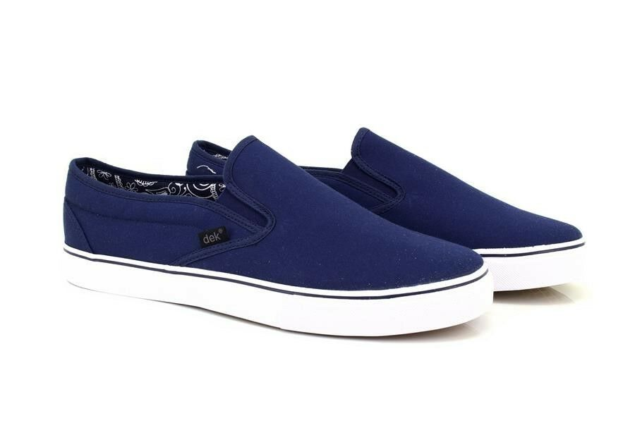 men Dek Estate Doppio Rinforzo Slip On shoes di Tela Casual