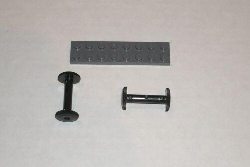 2x 4262023 420826 4248436 Brick 4210 4208 LEGO NEW 2x4x2 Black Hose Reel Drum