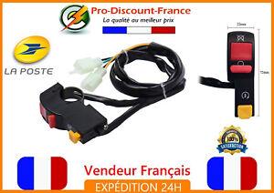 Comodo-Demarreur-et-Coupe-Circuit-Moto-Scooter-Quad-Commutateur-Guidon-Universel