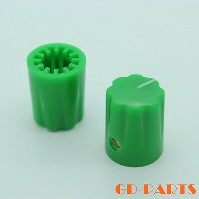 DAVIES 1900H Style Green Knob for Stomp box Vintage Guitar AMP effect pedal 10PC