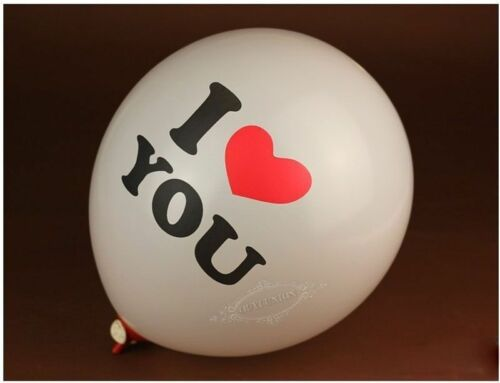 """1-12 PCS NEW - 10/"""" BALLOON FAST FREE CANADIAN SHIPPING I LOVE YOU"""