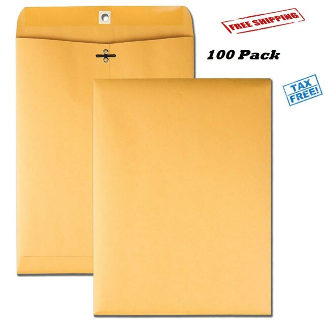 New 30 Business Envelopes 9x12 Kraft Manila Catalog Yellow Brown Flap New