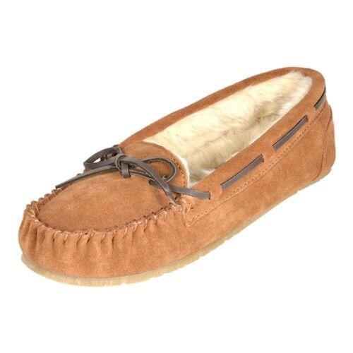 Women/'s Moccasin Slippers Faux Fur Suede Outdoor//Indoor Slip On Slippers