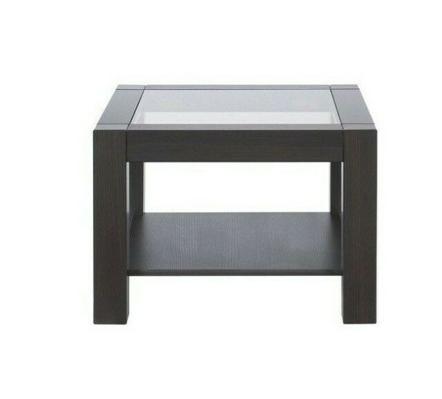 modern square coffee table glass top in wenge dark oak with storage shelf rumbi