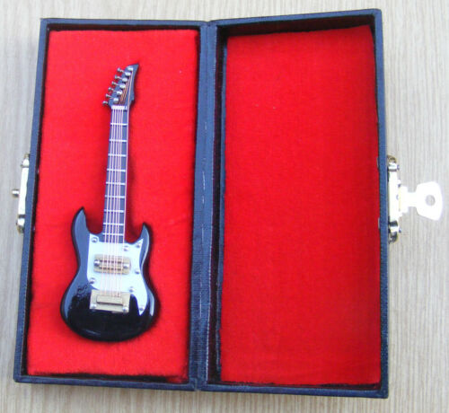 1:12 Scale Black Guitar And A Black Case Tumdee Dolls House Music Instrument 546
