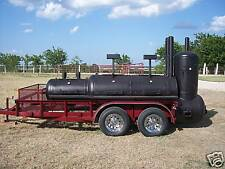 New Bbq Pit Smoker Cooker And Charcoal Grill Trailer