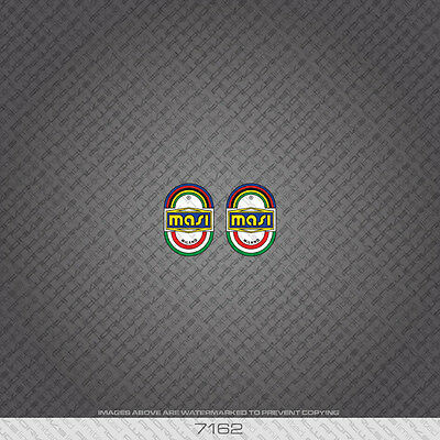 07162 Masi Bicycle Head Badge Stickers Decals Transfers