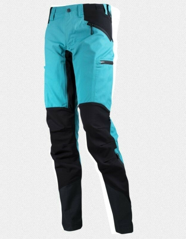 Lundhags Makke Pant Women's Turquoise Elastic Ladies Hiking Trousers