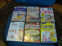 LOT OF 6 CARD MAKING PAPER CRAFT PC CD ROMS