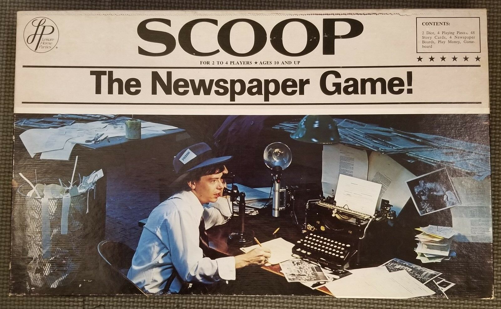 1976 Scoop The Newspaper Game  from Western Publishing Rare NEW