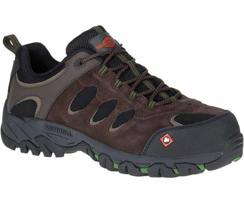 Merrell Men's J15819 Ridgepass Bolt Composite Toe Safety Work Shoes ESPRESSO