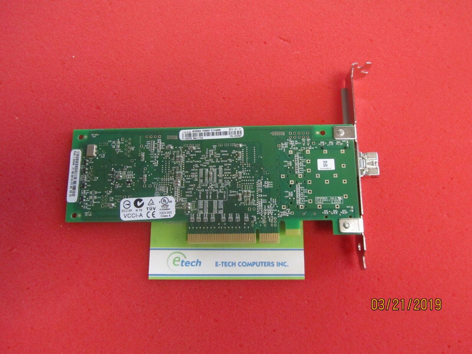 42D0501 42D0507- IBM QLOGIC QLE2560 8GB FC SINGLE PORT HBA - PCIe, High-profile