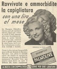 Y3010 Shampoo PALMOLIVE - Ravvivate la... - Pubblicità del 1939 - Old advert
