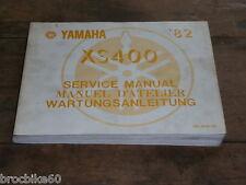 MANUEL REVUE TECHNIQUE D ATELIER YAMAHA XS 400 1982 -  service manual XS400 12E
