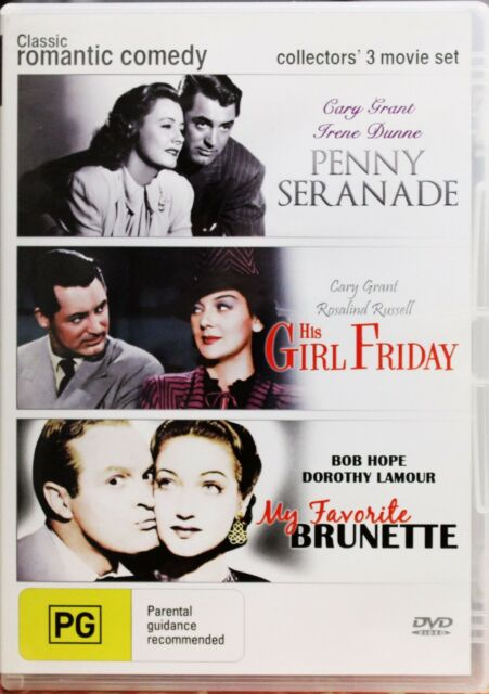 Classic Romantic Comedy DVD 3 Movies Penny Serenade Girl Friday Old 50s Movie