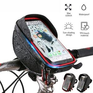 Bike-Bicycle-Waterproof-Phone-Case-Bag-Touch-Screen-Handlebar-Mount-Holder-Pouch