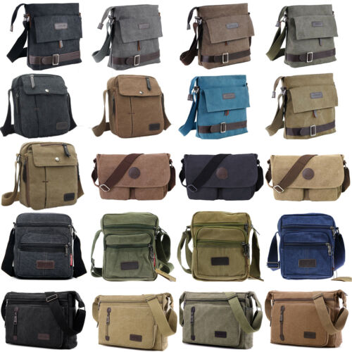 UK Messenger Bags School Shoulder Bag Men/'s Vintage Crossbody Satchel Canvas New