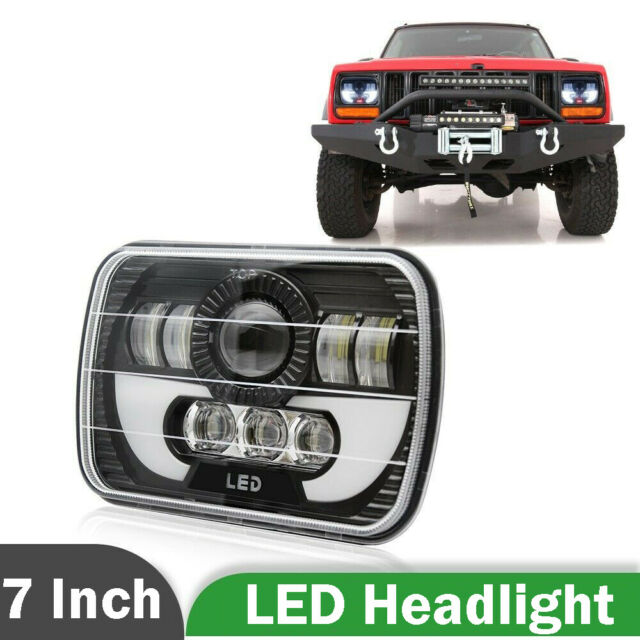 5X7 7X6 LED CREE Phare Halo DRL Pour 86-95 Jeep Wrangler YJ 84-01 Cherokee XJ