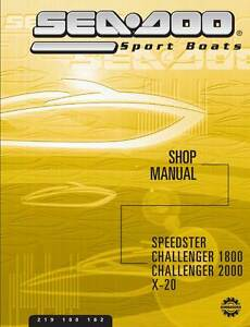 seadoo challenger 2000 2001 2002 shop service repair manual