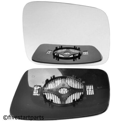 Derecho Lado Del Conductor Ala Espejo Cristal Para VW Transporter T4 90-03 climatizada