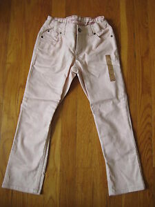NWT-Lands-End-girls-pink-Skimmer-JEANS-Size-8-skinny-capri-cropped-pants-NEW