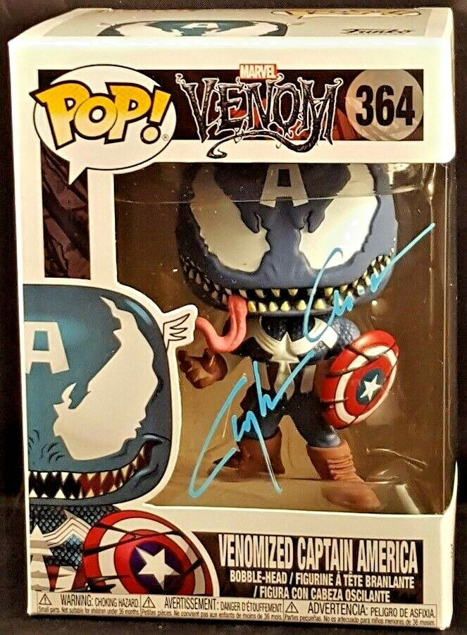 MARVEL Comics Funko POP  VENOMIZED CAPTAIN AMERICA Signed by Clayton Crain
